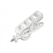 Удлинитель 10м (4 роз., 1.3кВт, б/з, ШВВП) Союз (провод 2х0,75мм2; сила тока 6А; б/з - без заземляющего контакта) (481S-0410)