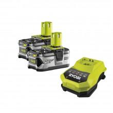 ONE+ / 2x Li-Ion Аккумулятора + зарядное Ryobi RBC 18 LL 40