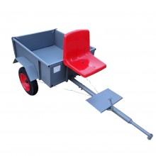 Тележка прицепная с сиденьем.Функция прокидывания кузова.Откидной задний борт