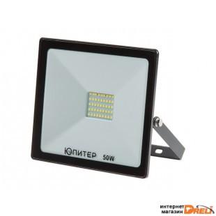Прожектор светодиодный 50 Вт 6500K IP64 ЮПИТЕР (3800 лм, холодный белый свет) (JP1201-50)
