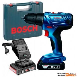 Дрель-шуруповерт Bosch GSB 180-LI Professional 06019F8307 (с 2-мя АКБ, кейс)